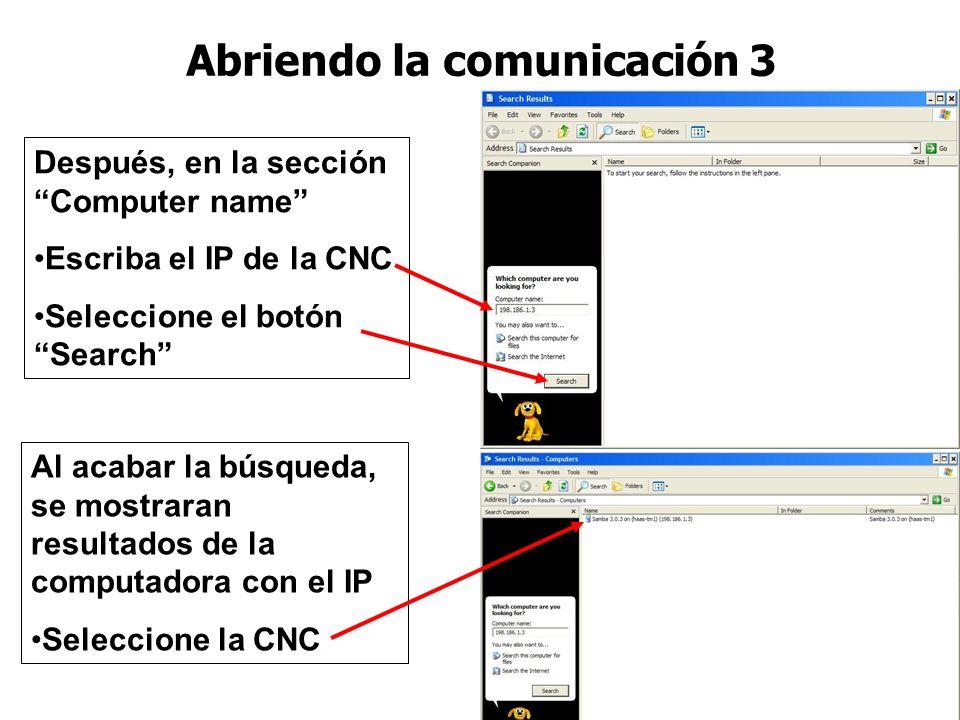 Abriendo la comunicación 3
