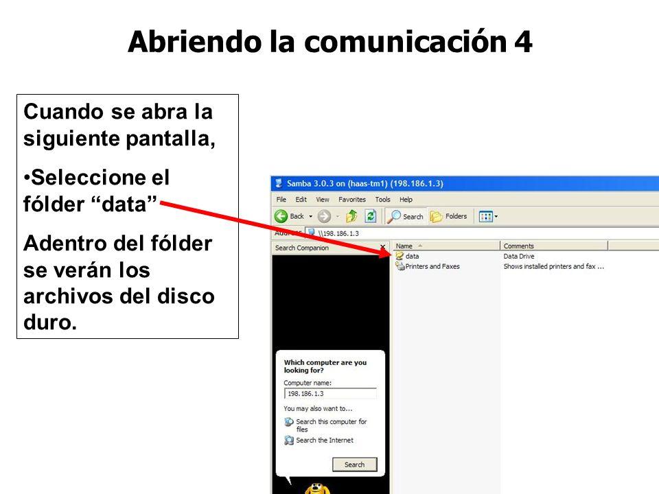 Abriendo la comunicación 4