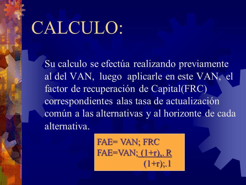 CALCULO: