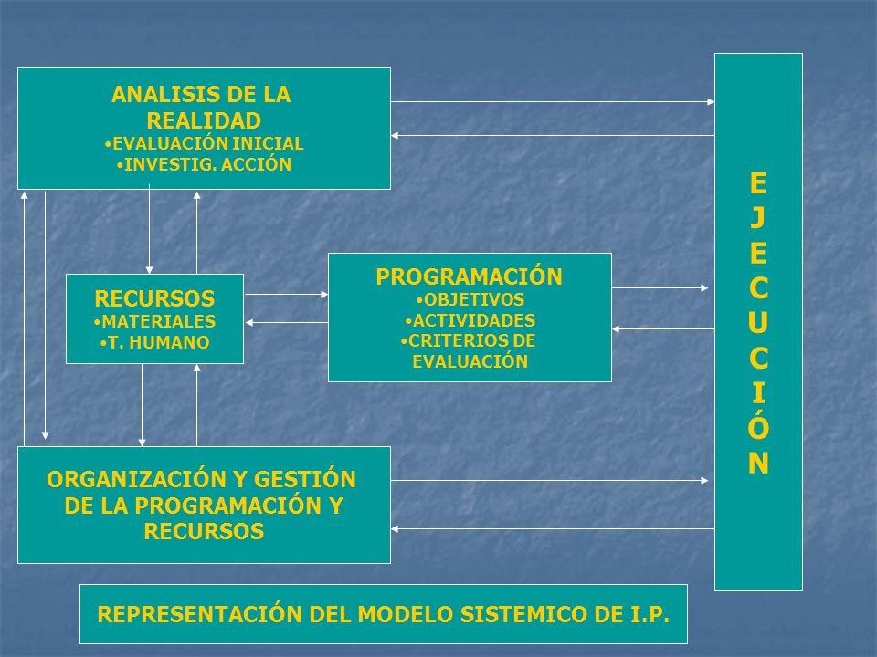 ORGANIZACIÓN Y GESTIÓN REPRESENTACIÓN DEL MODELO SISTEMICO DE I.P.