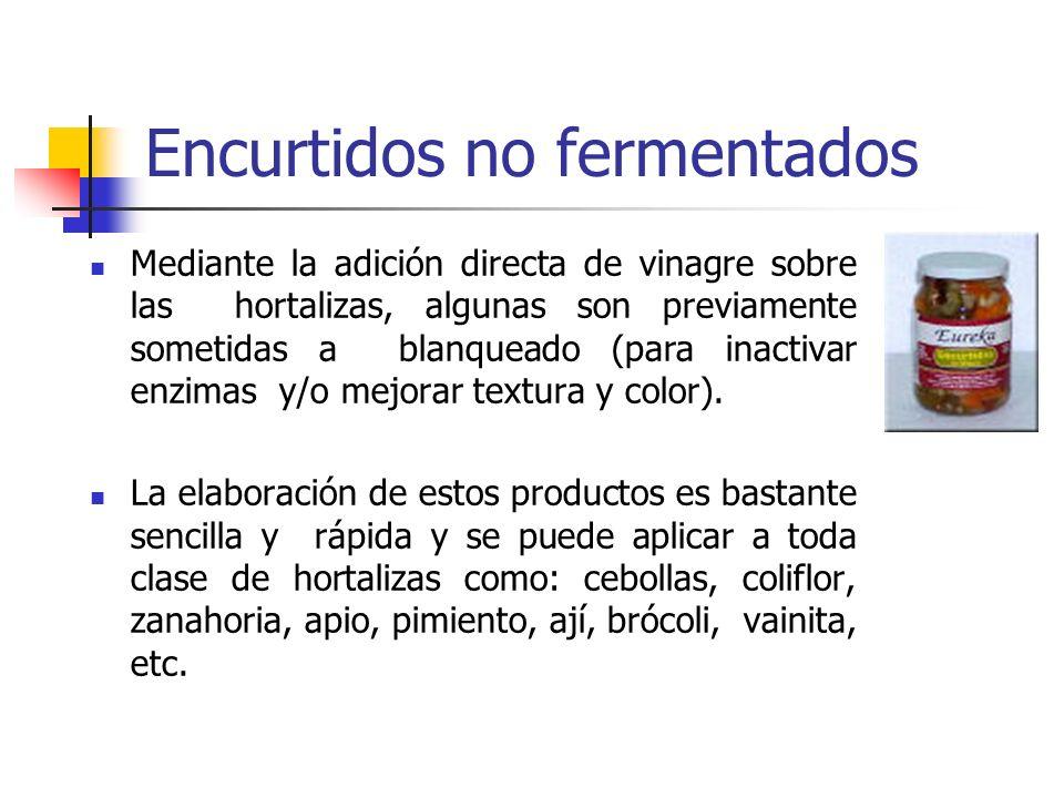 Encurtidos no fermentados
