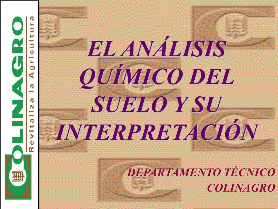 EL ANÁLISIS QUÍMICO DEL SUELO Y SU INTERPRETACIÓN