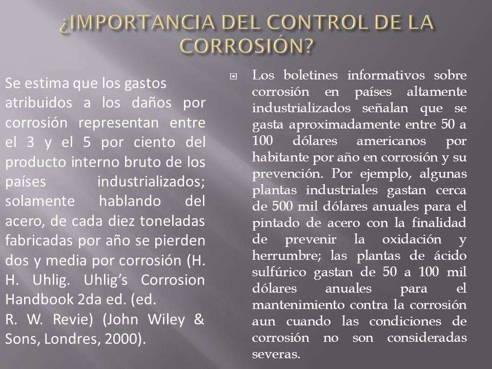 ¿IMPORTANCIA DEL CONTROL DE LA CORROSIÓN