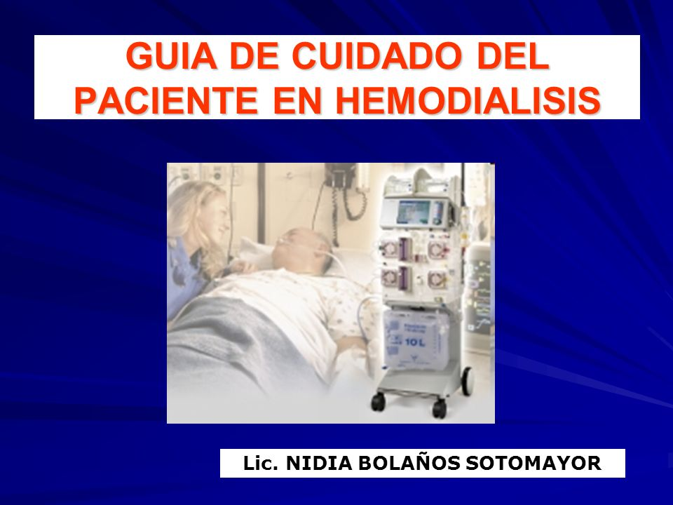 GUIA DE CUIDADO DEL PACIENTE EN HEMODIALISIS