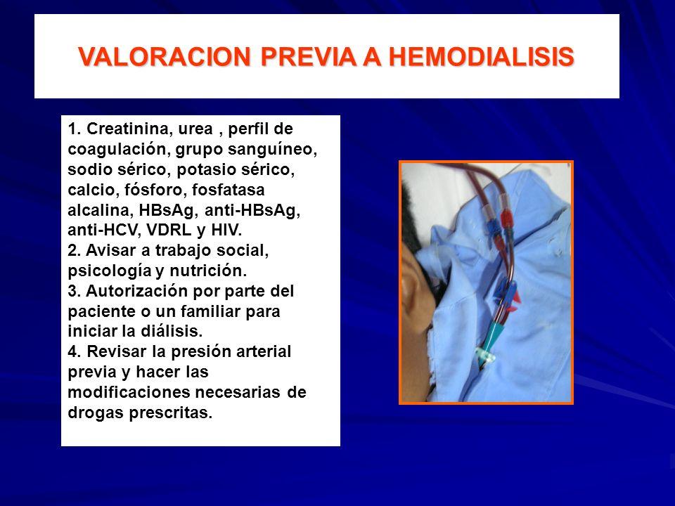 VALORACION PREVIA A HEMODIALISIS