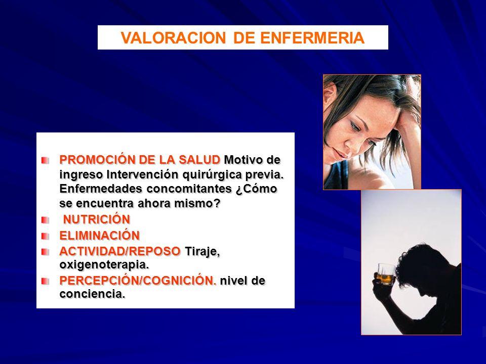 VALORACION DE ENFERMERIA
