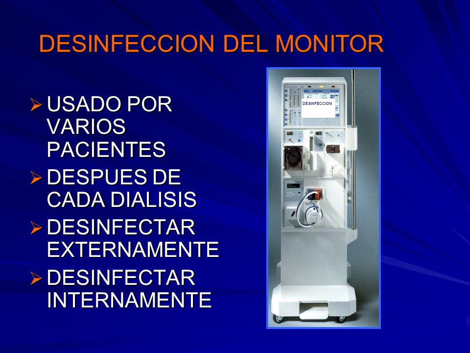 DESINFECCION DEL MONITOR