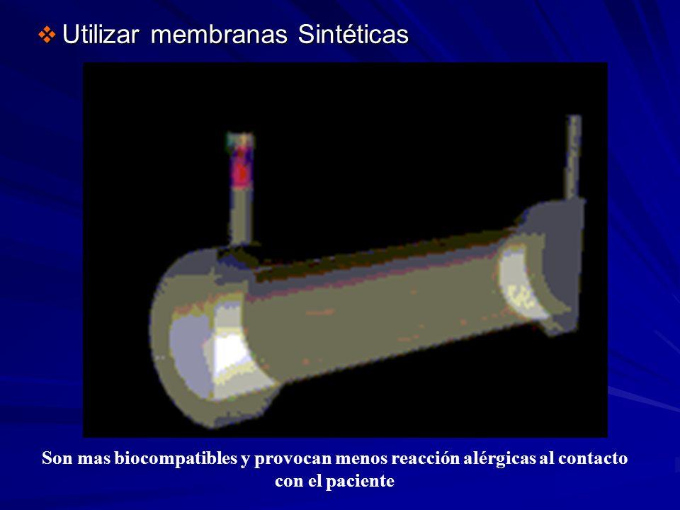 Utilizar membranas Sintéticas