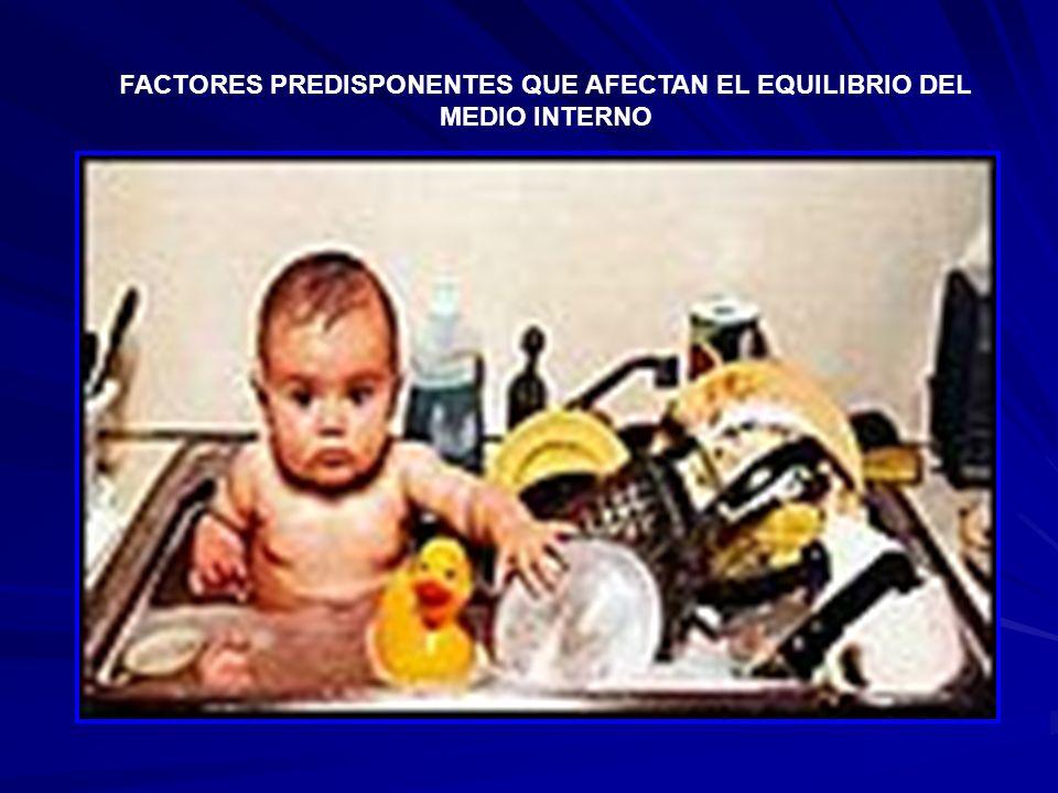 FACTORES PREDISPONENTES QUE AFECTAN EL EQUILIBRIO DEL MEDIO INTERNO