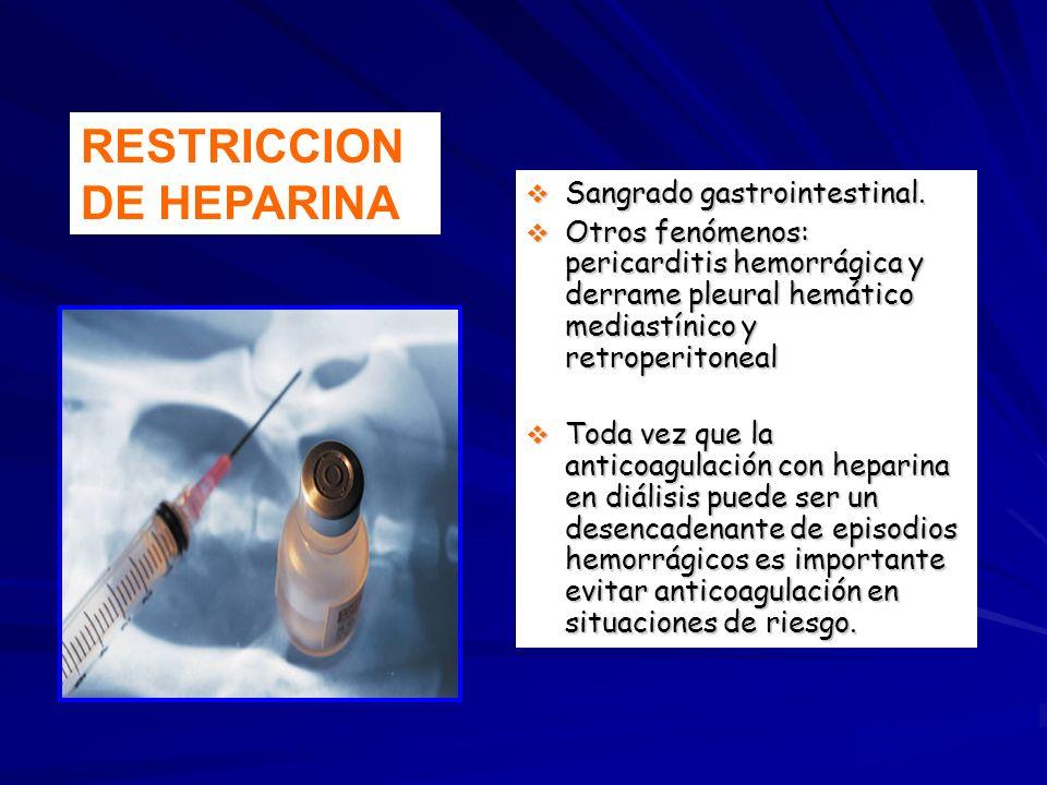 RESTRICCION DE HEPARINA