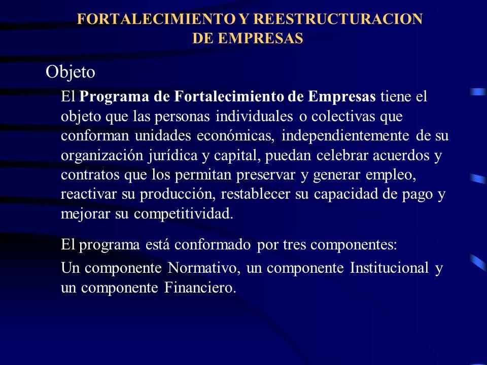 FORTALECIMIENTO Y REESTRUCTURACION DE EMPRESAS