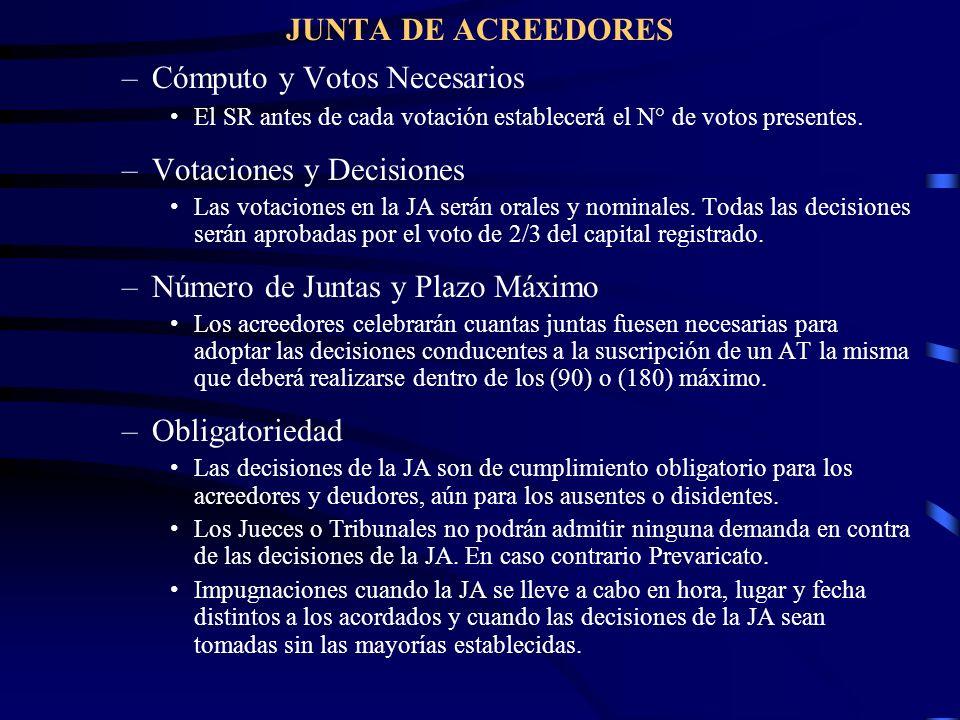 Cómputo y Votos Necesarios Votaciones y Decisiones