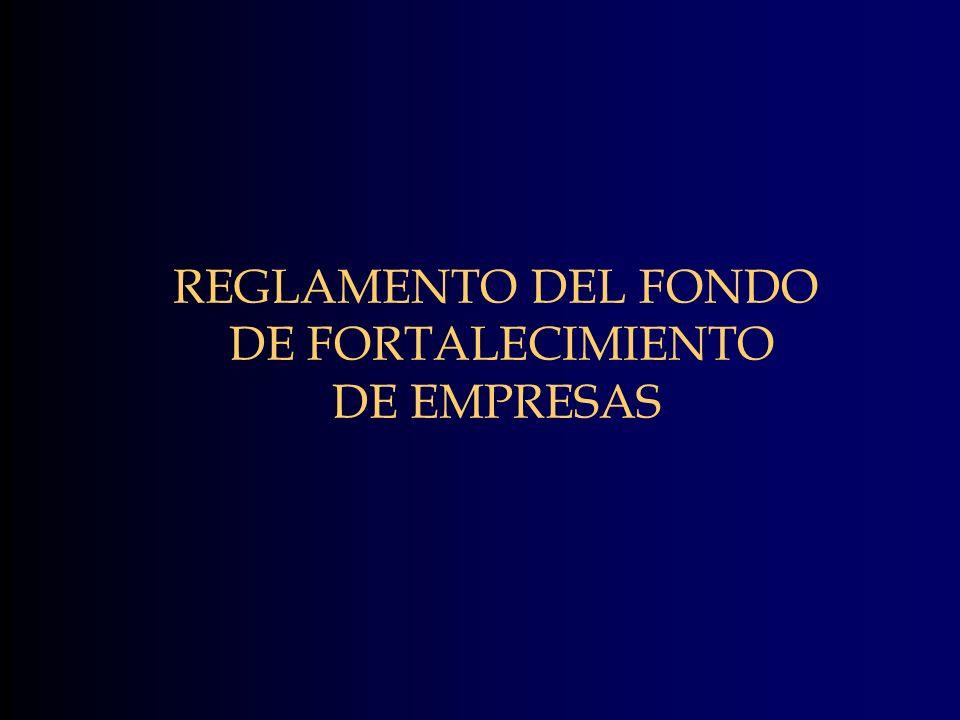 REGLAMENTO DEL FONDO DE FORTALECIMIENTO DE EMPRESAS
