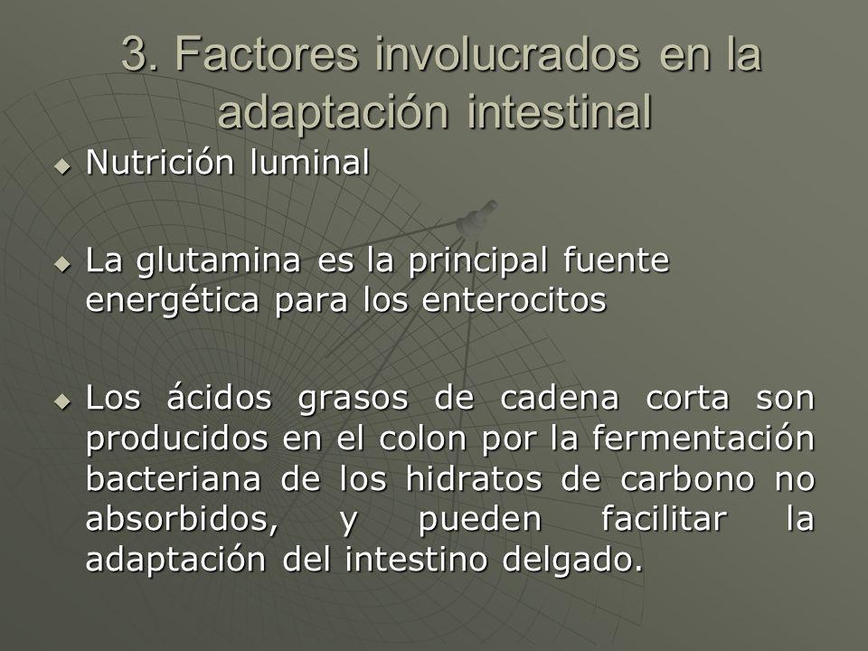 3. Factores involucrados en la adaptación intestinal