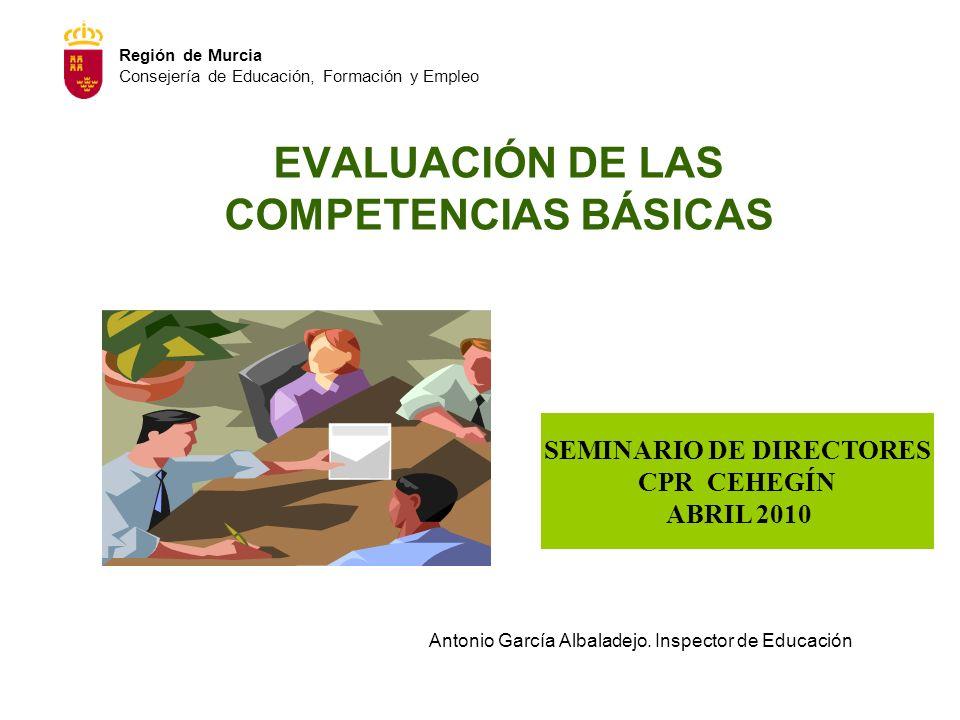 EVALUACIÓN DE LAS COMPETENCIAS BÁSICAS
