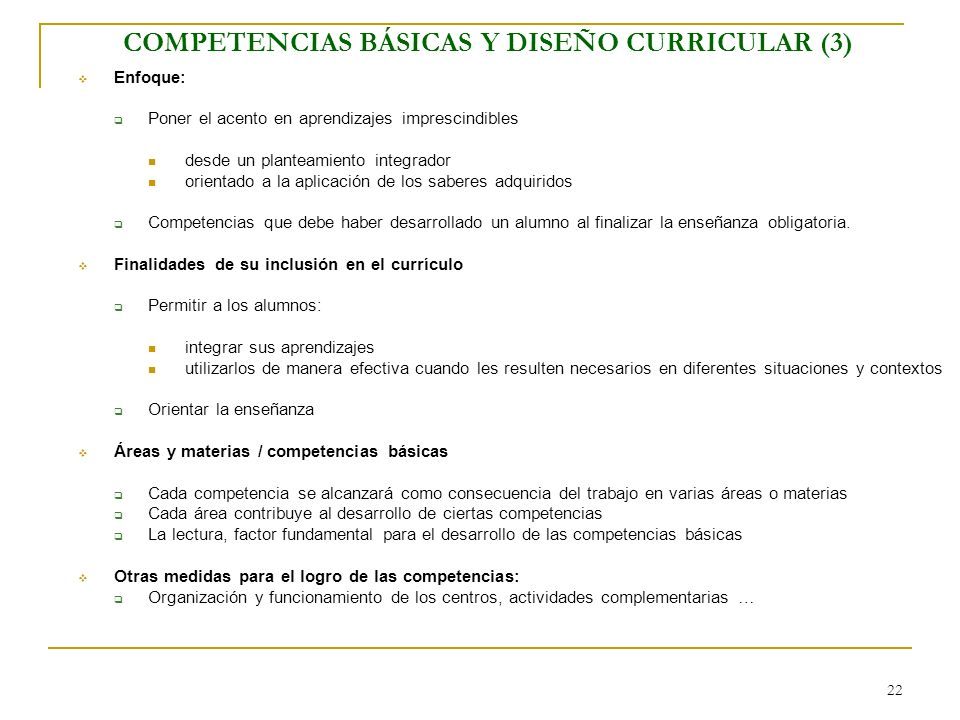 COMPETENCIAS BÁSICAS Y DISEÑO CURRICULAR (3)