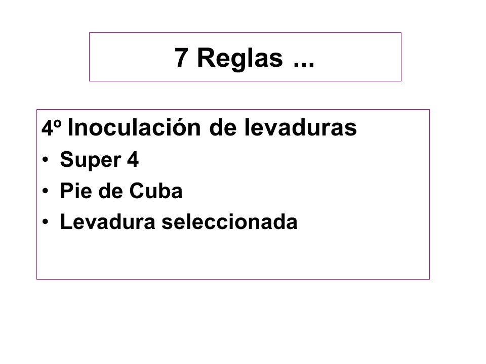 7 Reglas ... 4º Inoculación de levaduras Super 4 Pie de Cuba