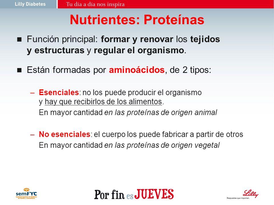 Nutrientes: Proteínas