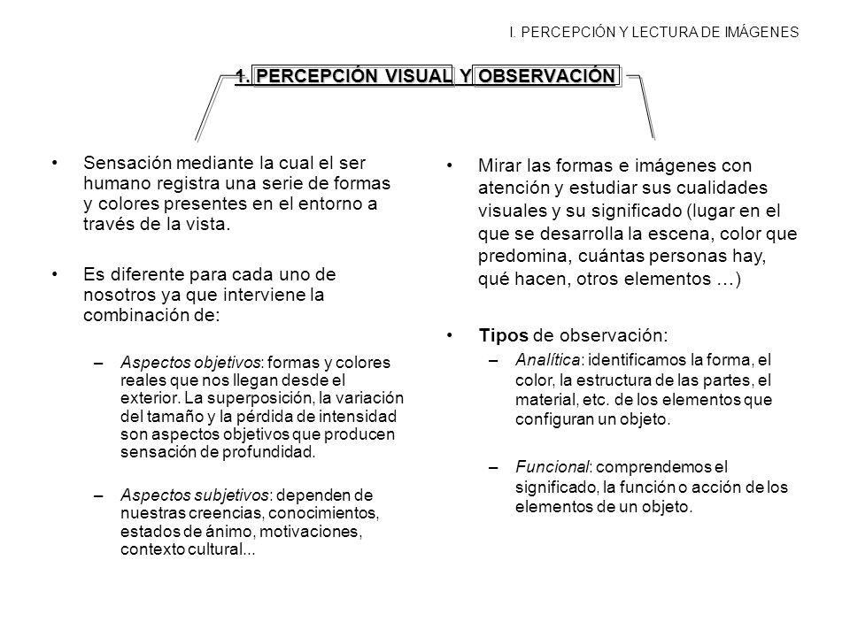 1. PERCEPCIÓN VISUAL Y OBSERVACIÓN