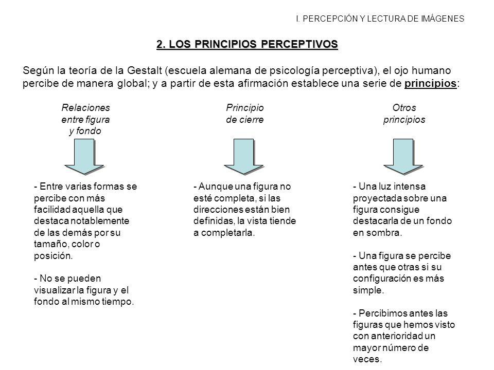2. LOS PRINCIPIOS PERCEPTIVOS