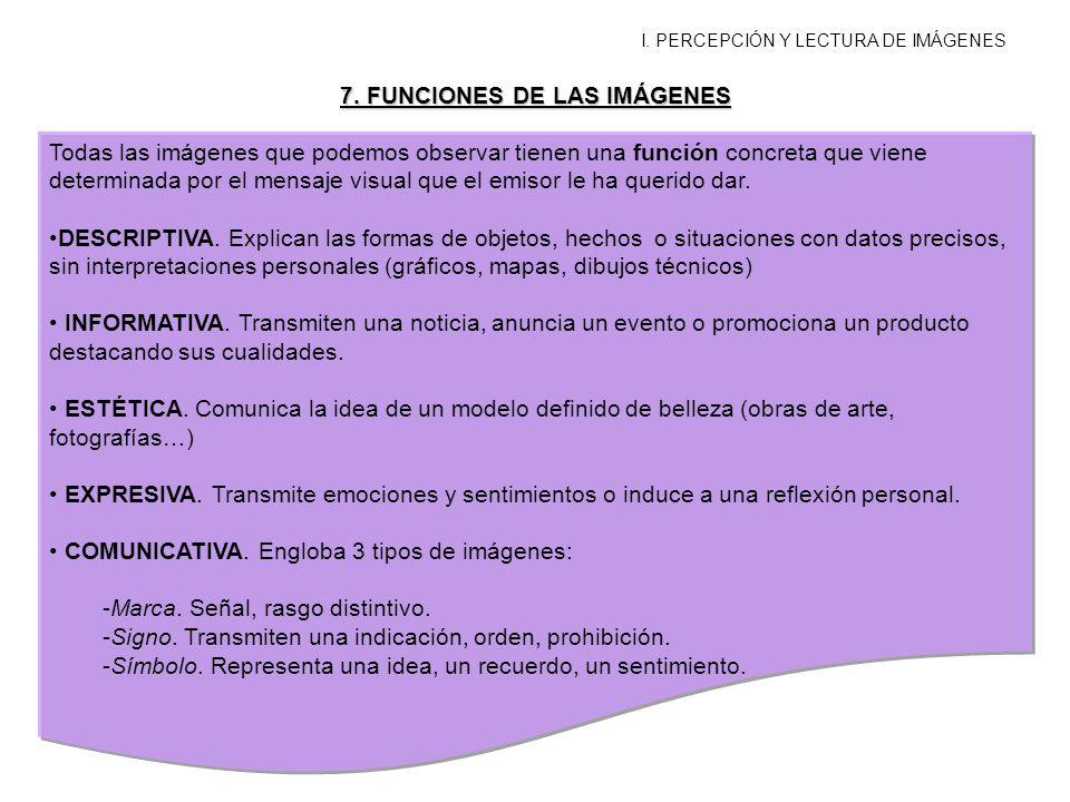 7. FUNCIONES DE LAS IMÁGENES