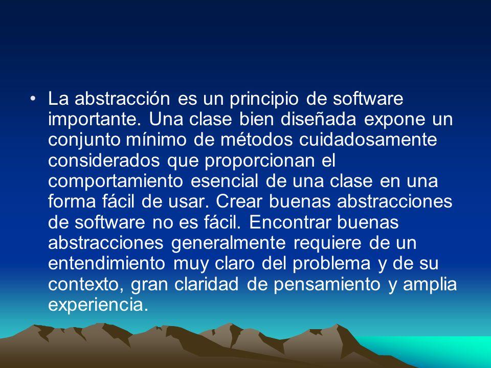 La abstracción es un principio de software importante