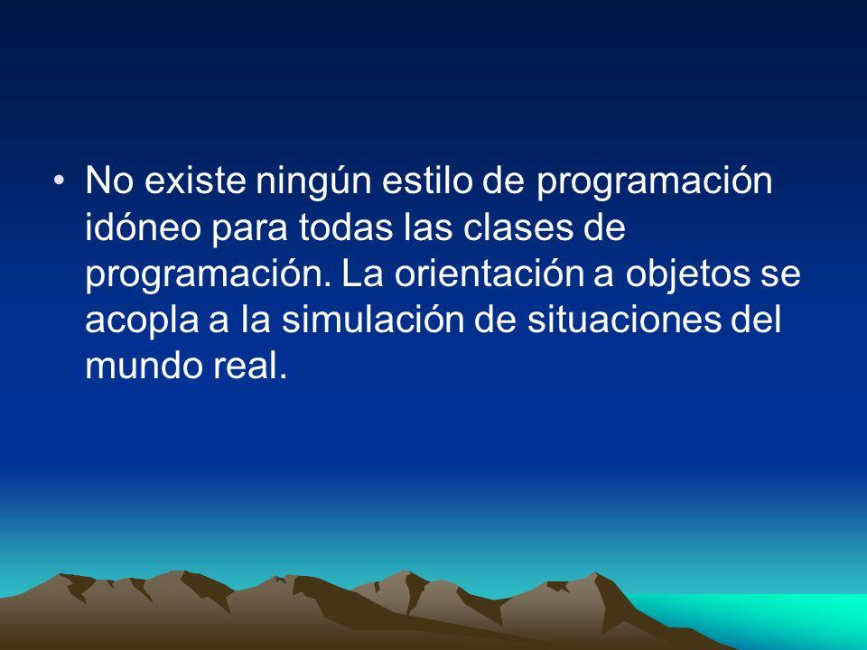No existe ningún estilo de programación idóneo para todas las clases de programación.