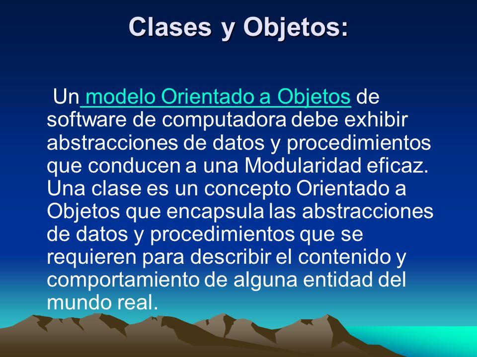 Clases y Objetos: