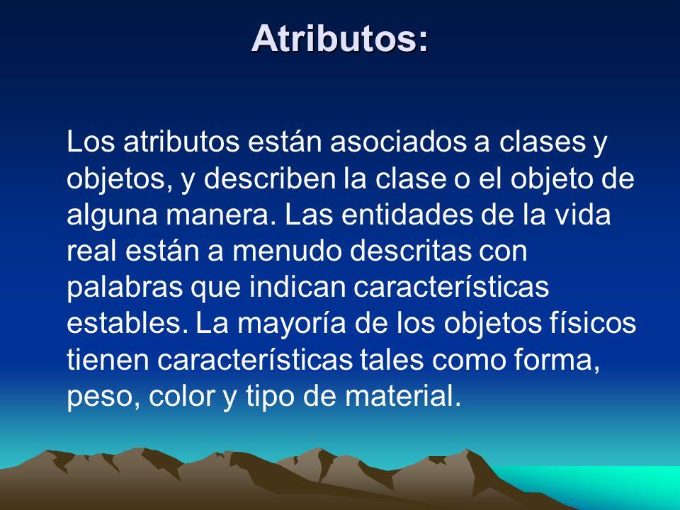 Atributos: