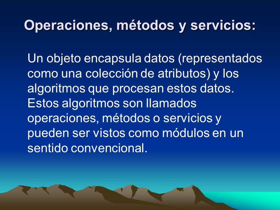 Operaciones, métodos y servicios: