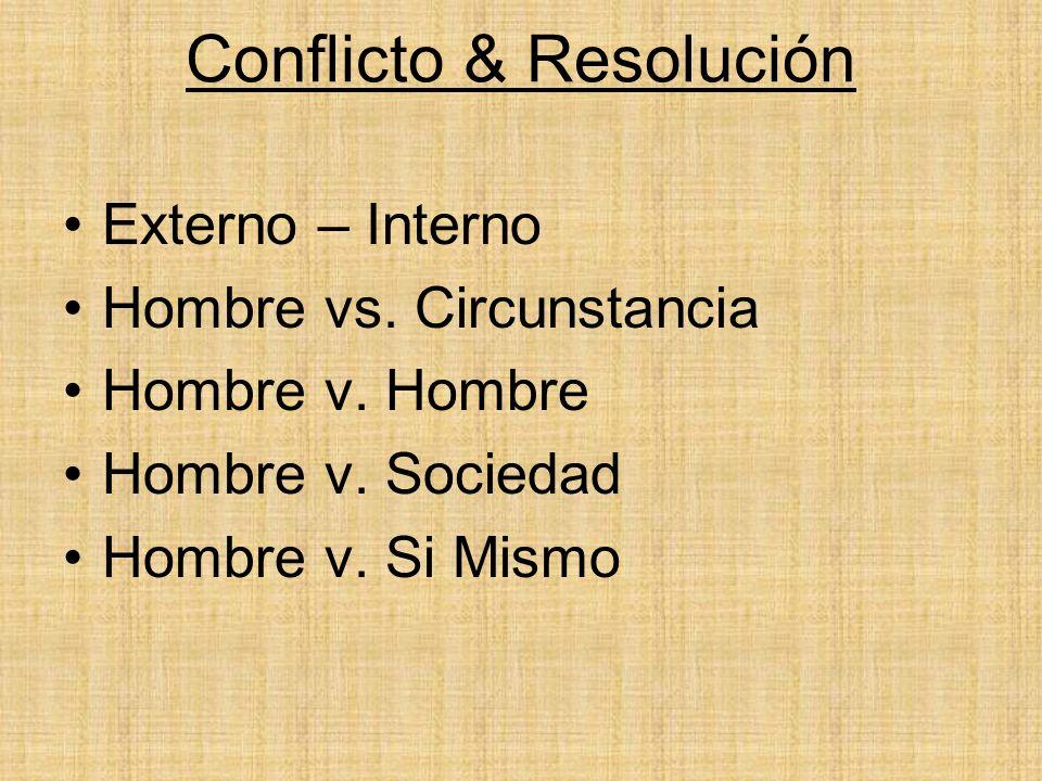 Conflicto & Resolución