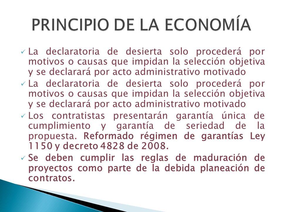 PRINCIPIO DE LA ECONOMÍA