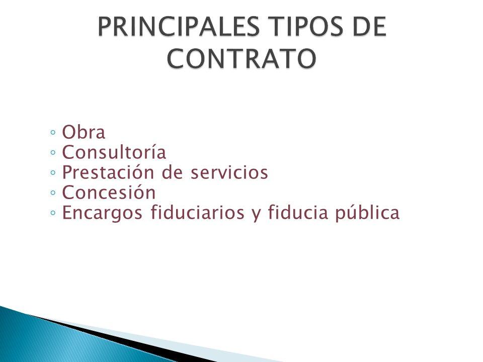 PRINCIPALES TIPOS DE CONTRATO