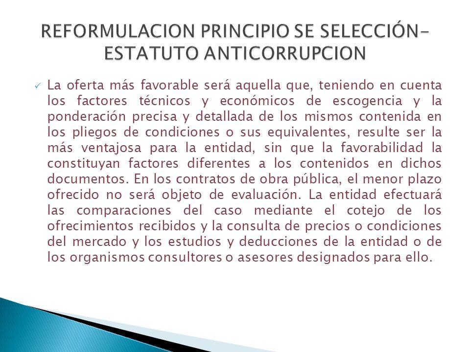REFORMULACION PRINCIPIO SE SELECCIÓN- ESTATUTO ANTICORRUPCION
