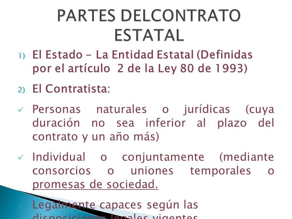 PARTES DELCONTRATO ESTATAL