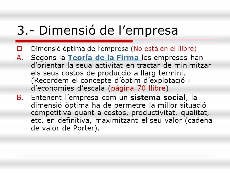 3.- Dimensió de l'empresa