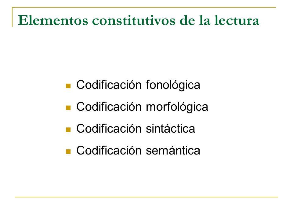 Elementos constitutivos de la lectura