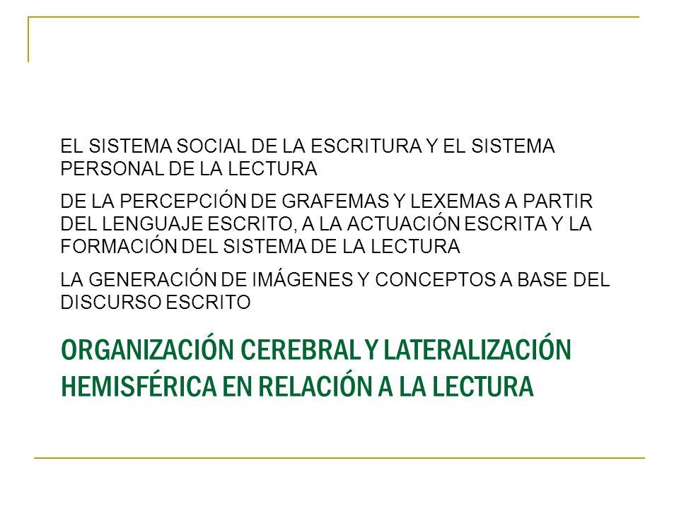 EL SISTEMA SOCIAL DE LA ESCRITURA Y EL SISTEMA PERSONAL DE LA LECTURA