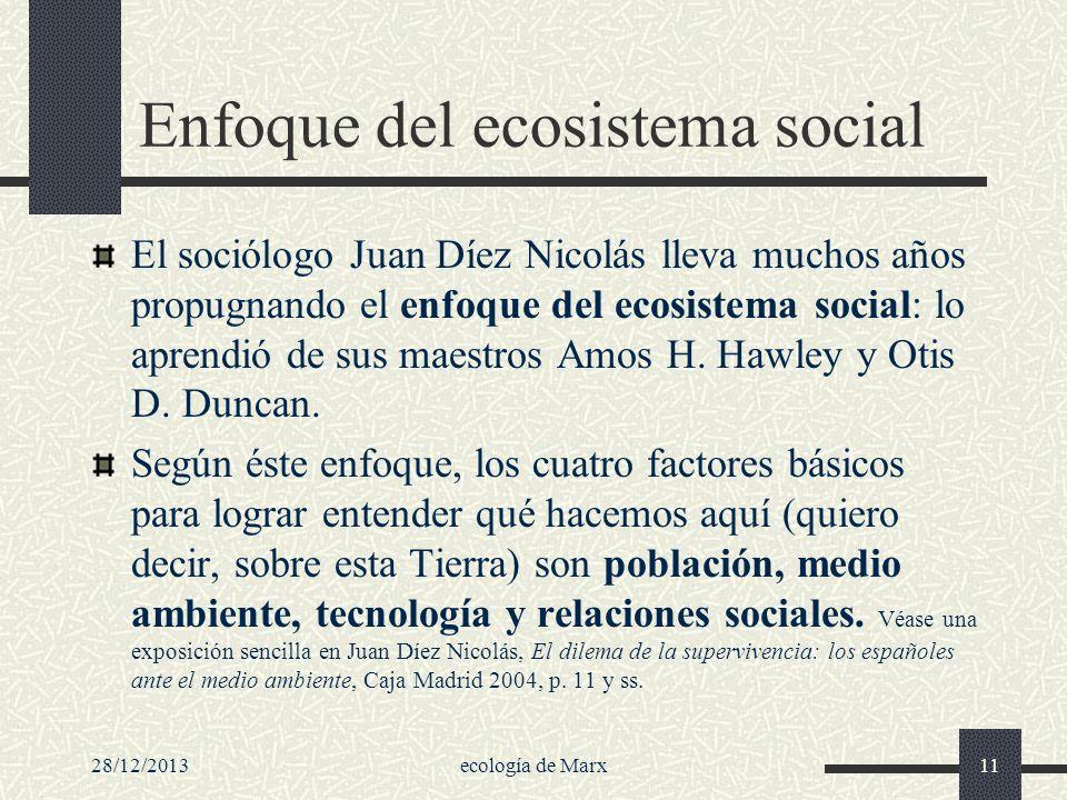 Enfoque del ecosistema social