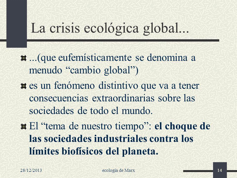 La crisis ecológica global...