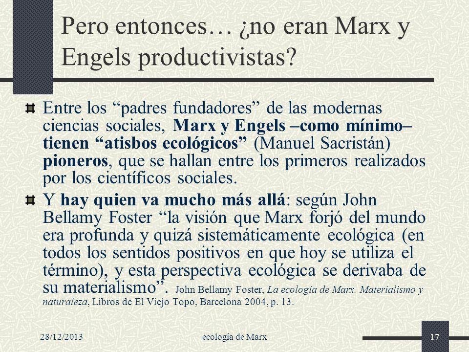 Pero entonces… ¿no eran Marx y Engels productivistas