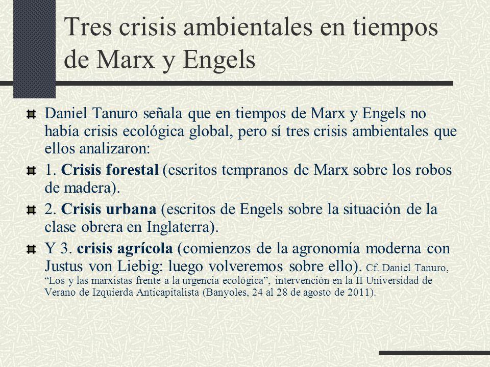 Tres crisis ambientales en tiempos de Marx y Engels