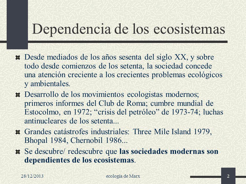 Dependencia de los ecosistemas