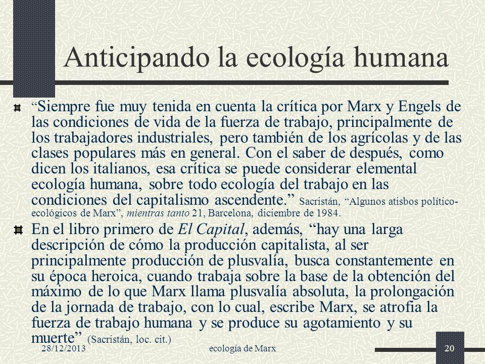 Anticipando la ecología humana