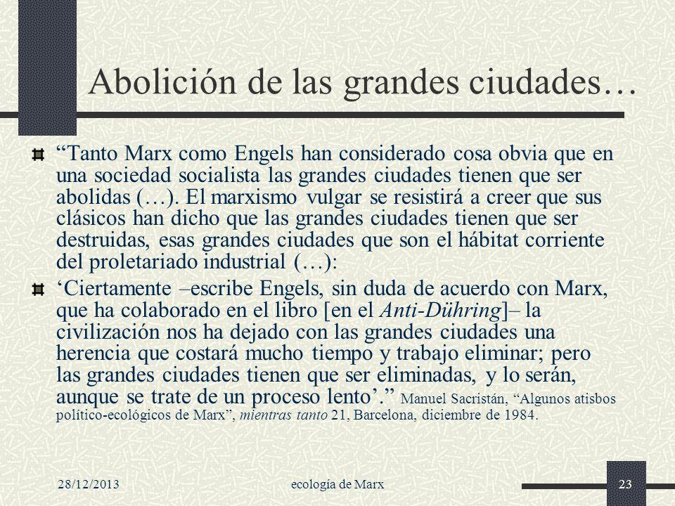 Abolición de las grandes ciudades…