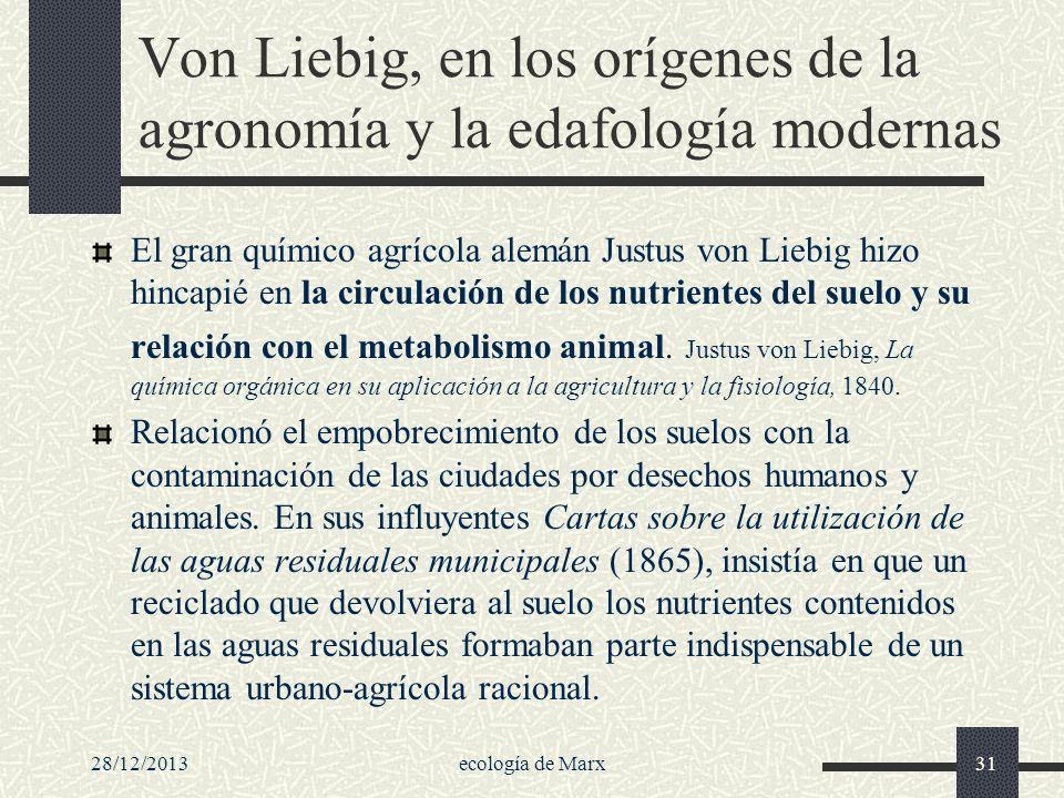 Von Liebig, en los orígenes de la agronomía y la edafología modernas