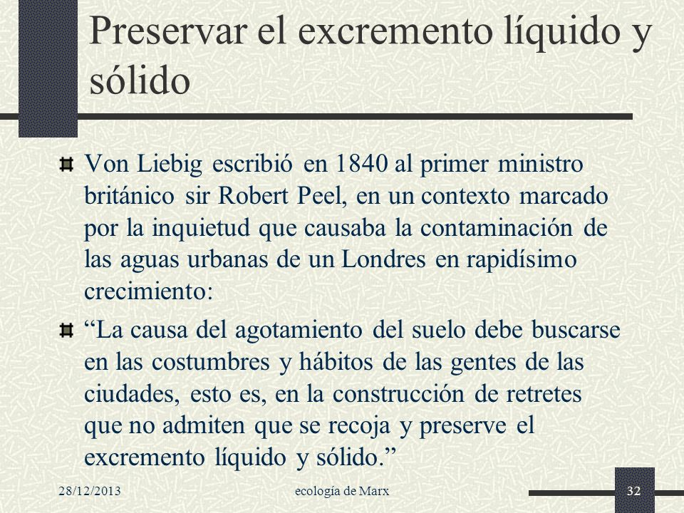 Preservar el excremento líquido y sólido