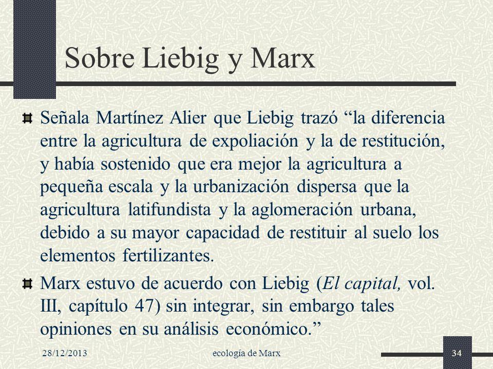 Sobre Liebig y Marx