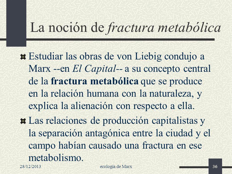 La noción de fractura metabólica