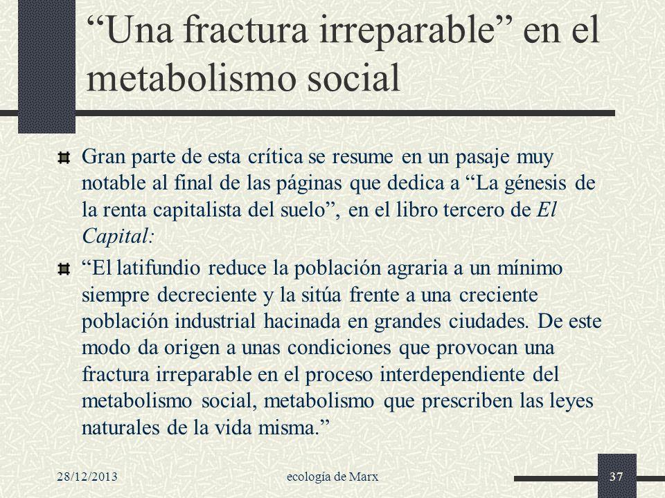 Una fractura irreparable en el metabolismo social